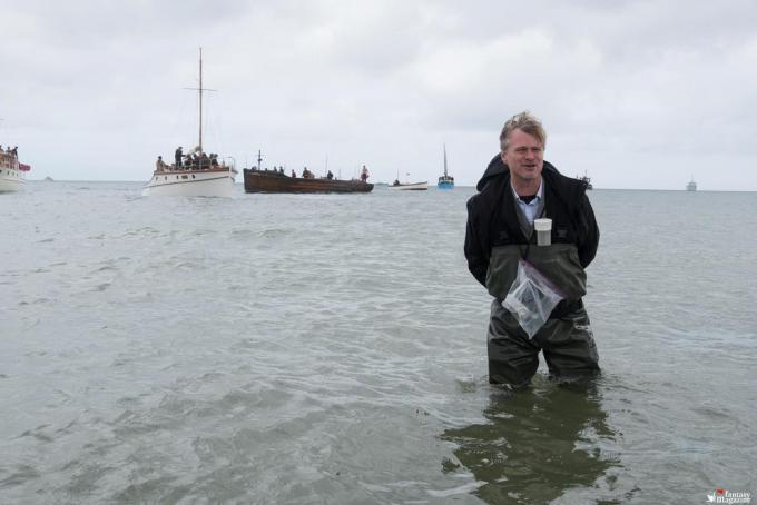 Christopher Nolan sul set di Dunkirk