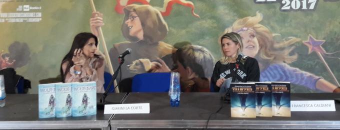 Alessia Coppola e Francesca Caldiani in sala Ingellis a Lucca Comics & Games
