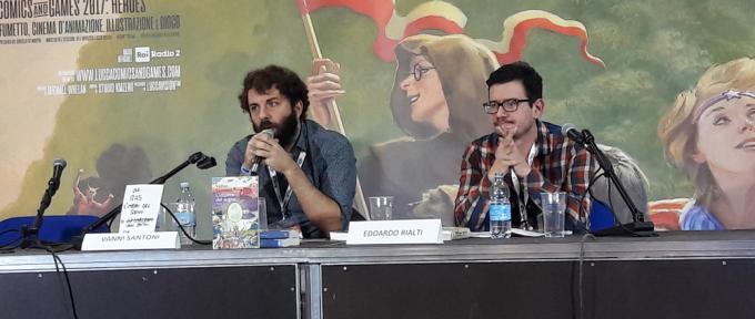 Vanni Santoni e Edoardo Rialti a Lucca Comics & Games