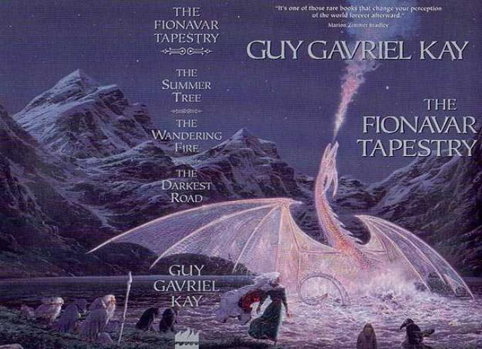 Edizione Omnibus della Trilogia di Fionavar edita da HarperCollins solo per il mercato canadese.Artista Ted Nasmith.