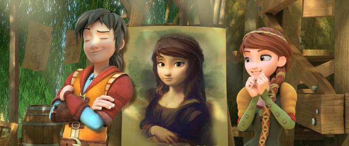 Leo, la Gioconda e Lisa in Leo Da Vinci: Missione Monna Lisa.
