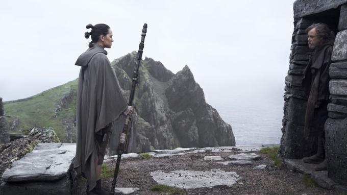 Daisy Ridley e Mark Hamillin Gli Ultimi Jedi