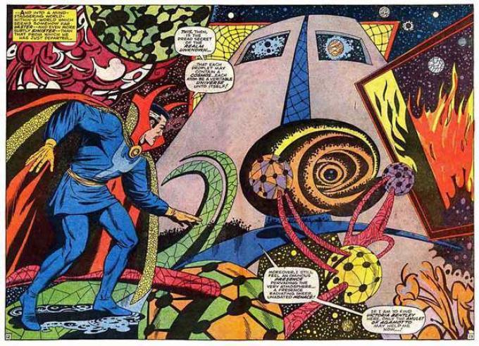 Un disegno del Doctor Strange di Steve Ditko