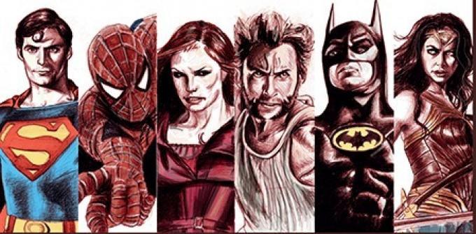 Superheroes - Illiustrazione di Livio Squeo.