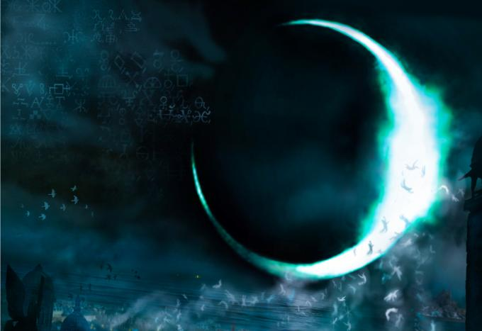 L'eclissi dei tempi - Dettaglio della copertina di Mario Labieni