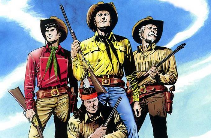 Tex e i suoi pards. (Fonte: Sergiobonelli.it)
