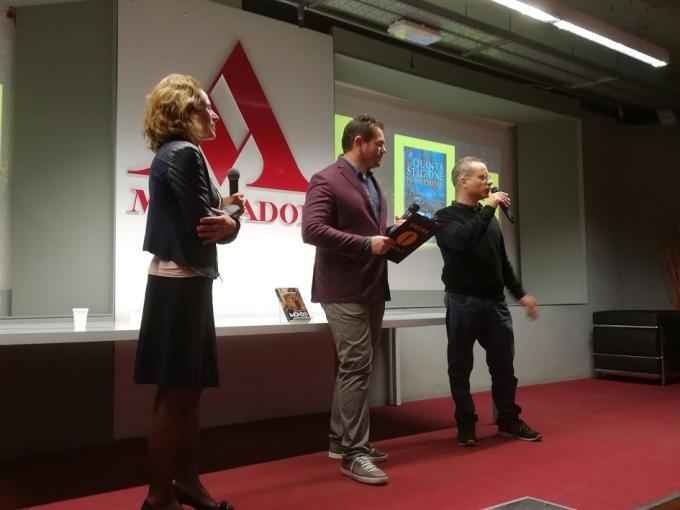 Da sinistra Alba Mantovani, Lorenzo Fantoni e Marco Rana