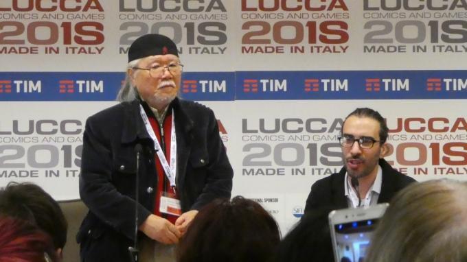Il maestro Leiji Matsumoto a Lucca Comics & Games.