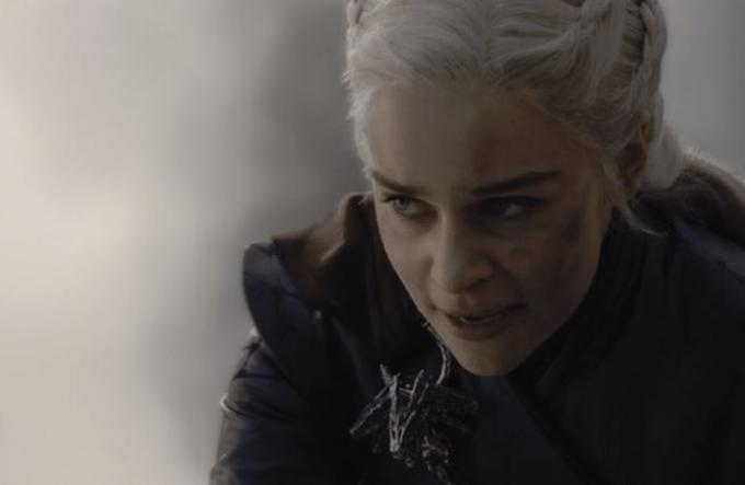 Emilia Clarke è Daenery Targaryen in Il trono di spade