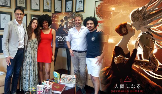 Lucca Comics & Games 2019: Emanuele Vietina e Pardini con i protagonisti di We Are Lucca.