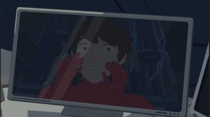 Un fotogramma dalla miniserie di Superior Spider-Man.