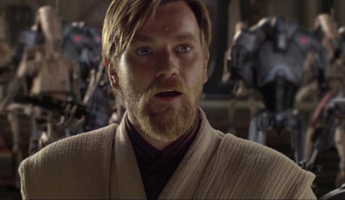 """""""Hello There!"""" Ewan McGregor è di nuovo Obi-Wan Kenobi nella serie per Disney+. Fotogramma tratto da Star Wars: Episodio III - La vendetta dei Sith."""