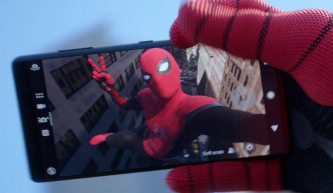 Un fotogramma da Spider-Man: Far from home