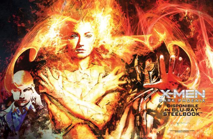 Il poster firmato daBill Sienkiewicz per X-Men: Dark Phoenix.