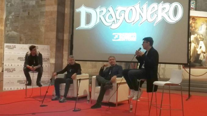 Le novità di Dragonero a Lucca Comics & Games con Luca Barbieri, Stefano Vietti, Luca Enoch e lo Youtuber Caleel.