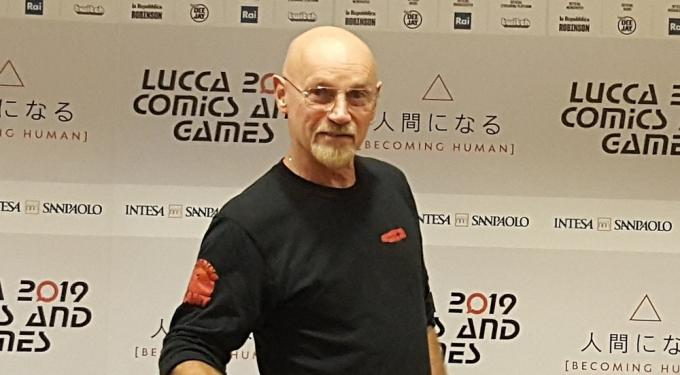 Jim Starlin al press Cafè di Lucca Comics & Games.