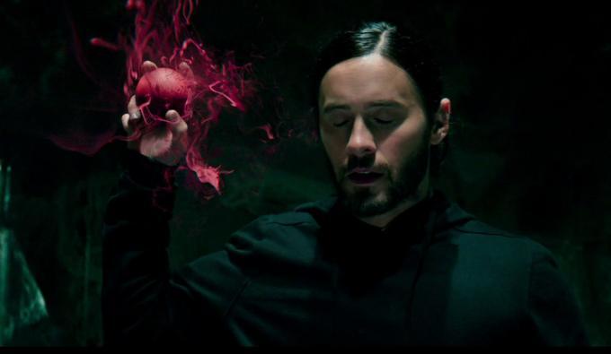 Un fotogramma dal teaser trailer di Morbius (2020).