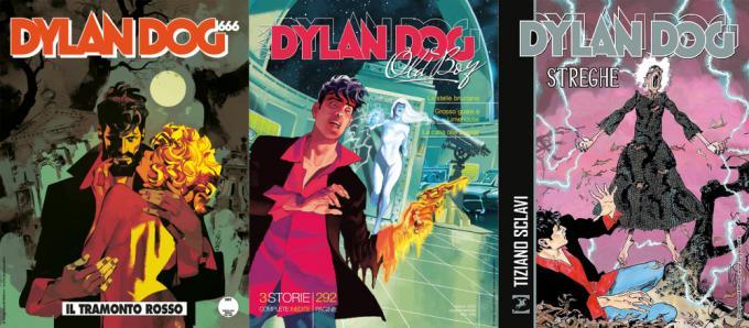 Dylan Dog n.402 – <i>Il tramonto rosso</i>, <i>Maxi Dylan Dog – Old Boy</i> n. 38, <i>Dylan Dog. Streghe</i>.