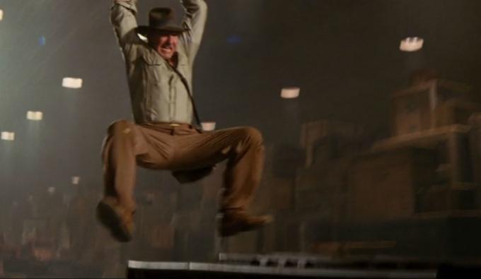 Un fotogramma tratto da Indiana Jones e il regno del teschio di cristallo (2008)