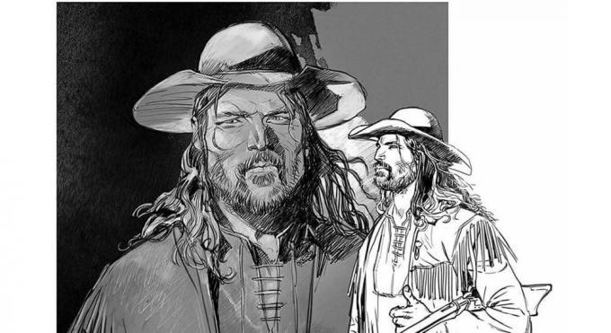 Black Hat Jack, disegno di Stefano Andreucci
