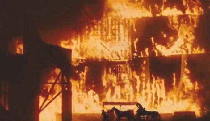 L'incendio di Atlanta in Via col Vento
