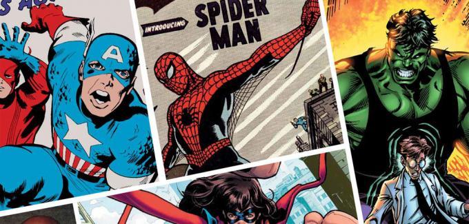 Dettaglio del manifesto della mostra AMAZING! 80 anni (e più) di supereroi Marvel