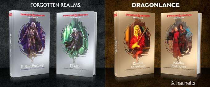 I romanzi di D&D pubblicati da Hachette