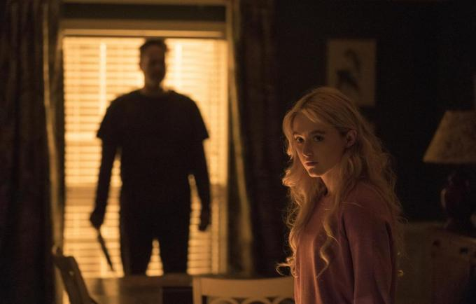 (from left) The Butcher (Vince Vaughn) and Millie Kessler (Kathryn Newton) in Freaky, co-written and directed by Christopher Landon. © 2020 UNIVERSAL STUDIOS