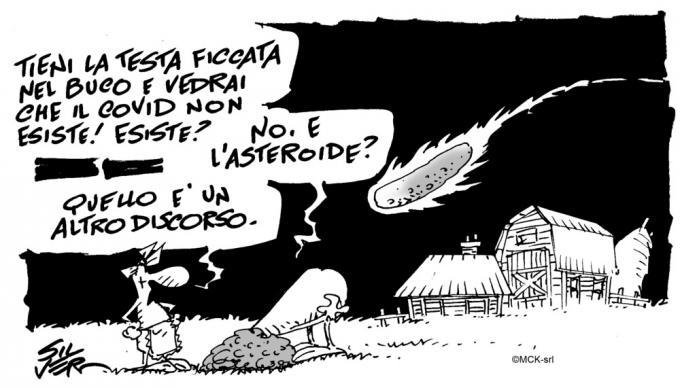 Una vignetta di Silver per prevenzione al Coronavirus da Come ti frego il virus!