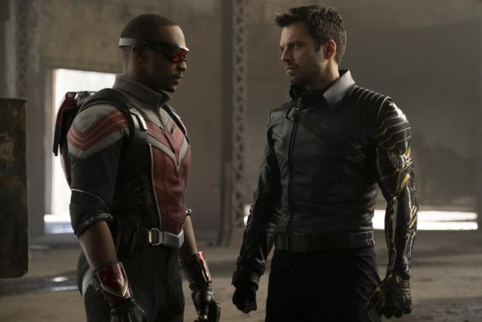 Anthony Mackie e Sebastian Stan in The Falcon & The Winter Soldier