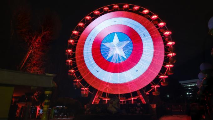 Lo scudo di Captain America a Roma