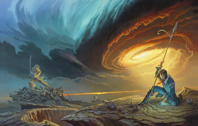 Illustrazione di copertina di Michael Whelan per Words of Radiance