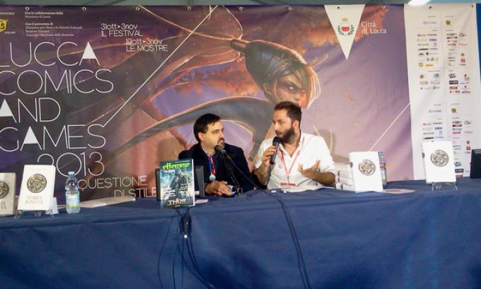 Emanuele Manco e Vanni Santoni