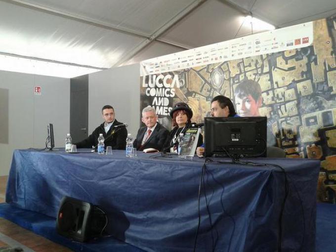 Alessandro Stanchi, Joe Dever ed Emanuele Manco celebrano i 30 anni di Lupo Solitario