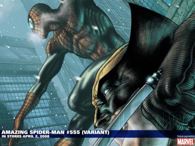 The Amazing Spider-Man 555 variant cover. Disegno di Simone Bianchi.