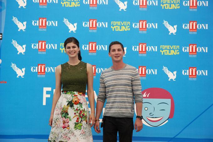 Alexandra Daddario e Logan Lerman a Giffoni