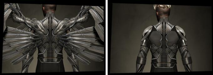Concept art di Angel in X-Men: Apocalypse