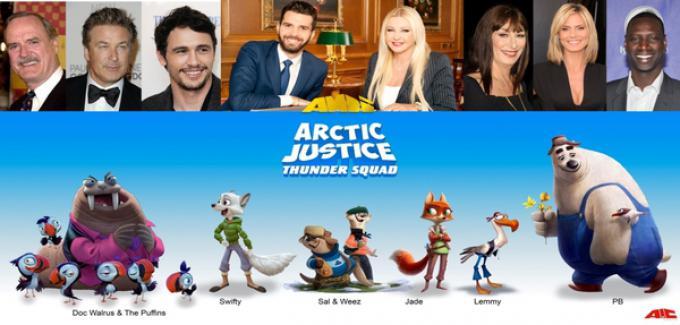 Il cast di Artic Justice: Thunder Squad