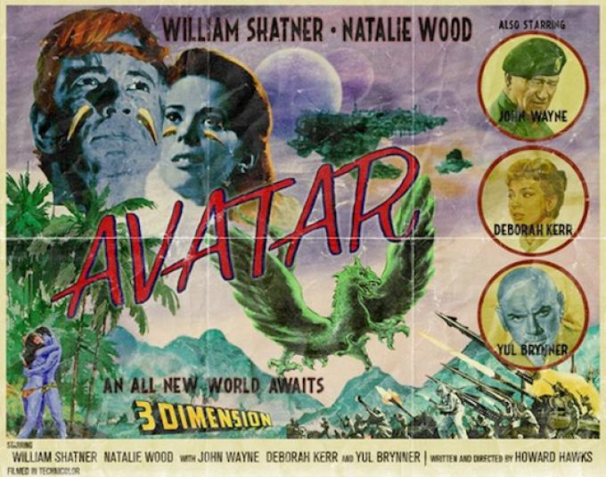 Versione alternativa di Avatar, poster di Peter Stults.
