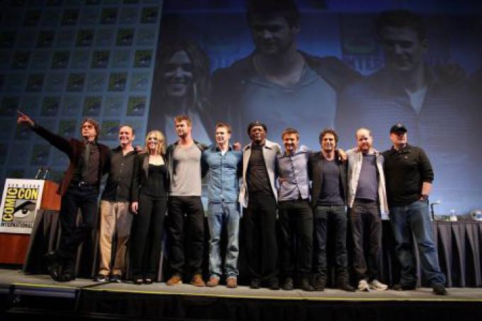 il cast di The Avengers alla Comic-Con 2010