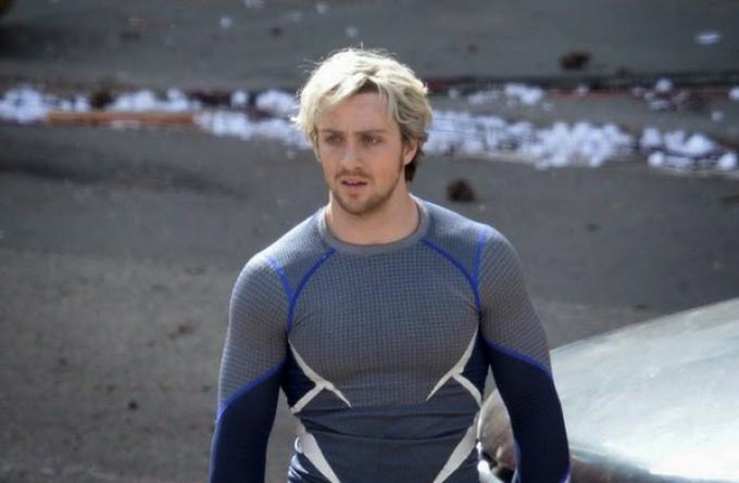 Aaron Taylor-Johnson alias Quicksilver in Avengers: Age of Ultron