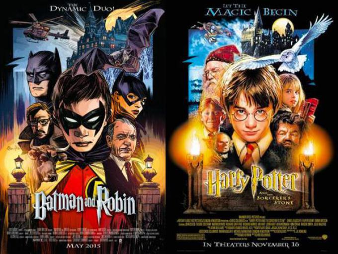 Batman & Robin #40, ispirata a Harry Potter e la Pietra Filosofale, disegno di Tommy Lee Edwards