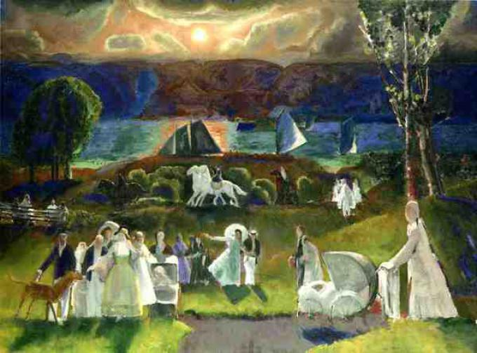 <br>George Bellows (1882–1925) - Summer Fantasy (Public Domain)