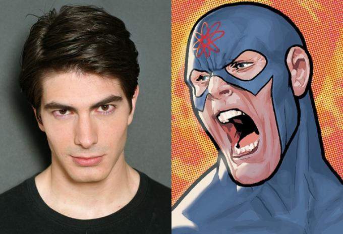 Brandon Routh e The Atom (illustrato da Ryan Sook)