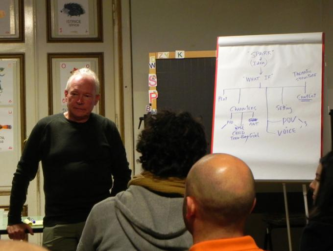 Terry Brooks al seminario di scrittura di Lucca Games Educational