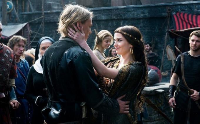 Arthur e Morgana in una scena di Camelot