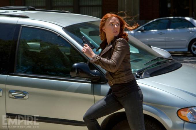 Scarlett Johansson in Captain-america: The Winter Soldier