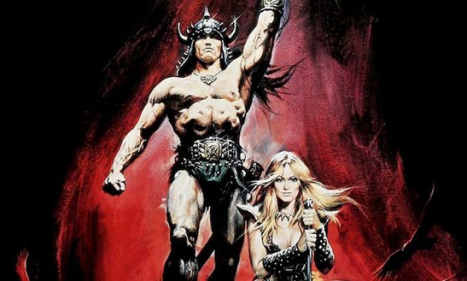 Dettaglio del manifesto di Conan il barbaro