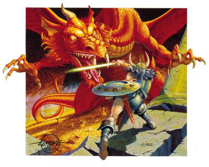 Una splendida illustrazione di Larry Elmore