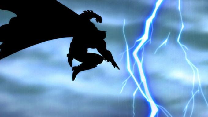 Una sequenza del cartone animato tratto da The Dark Knight Returns.